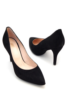 туфли черные классические на небольшом каблуке