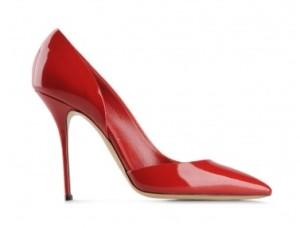 нарядные туфли красные casadei