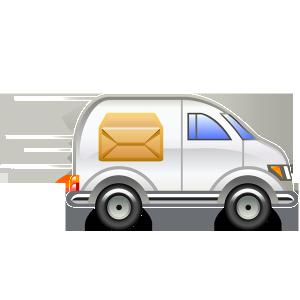 движущийся автомобил с посылкой