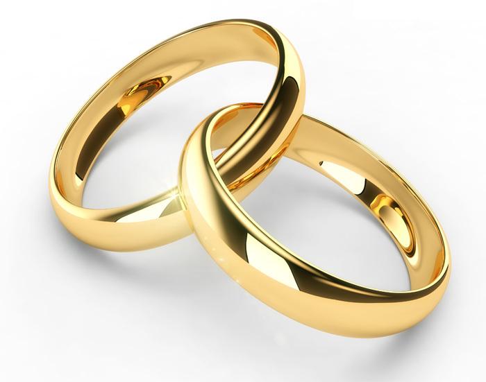 обручальные кольца из насыщенно-желтого золота