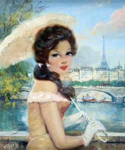 парижанка с зонтом