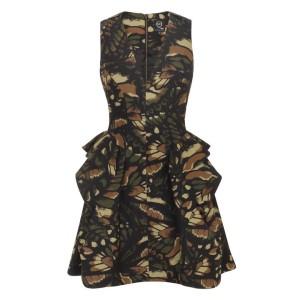 легкое спортивное платье в стиле милитари
