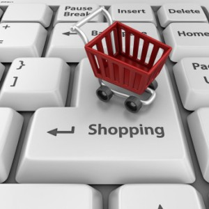 клавиатура и корзина для покупок