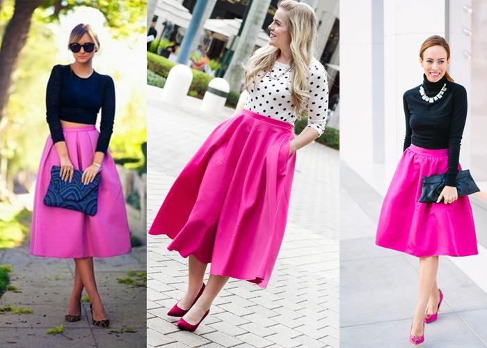 розовые юбки