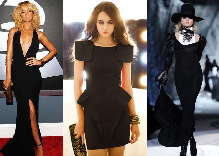 черные экстравагантные платья