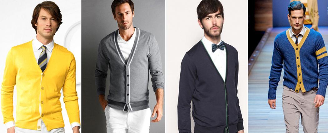 модные мужские кардиганы