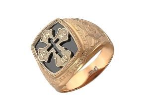 золотое мужское кольцо-печатка