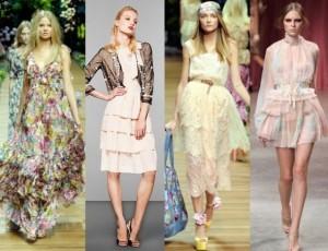модный показ романтической одежды