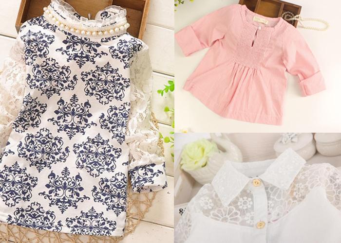 блузки для девочек из качественных материалов