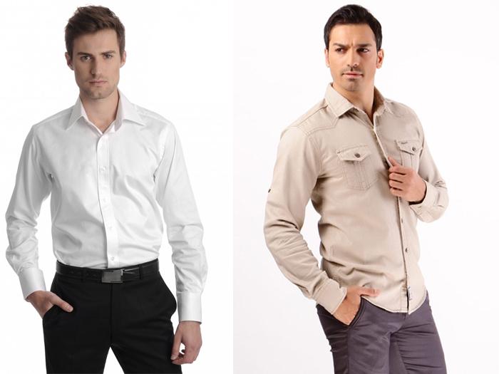 классические мужские рубашки нейтральных цветов