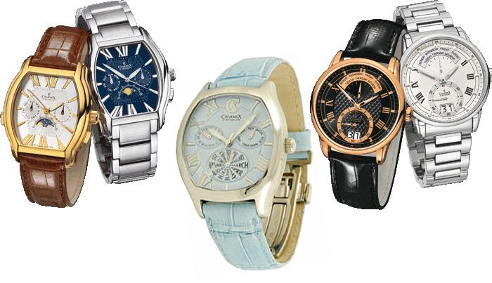 модельный ряд мужских и женских часов charmex