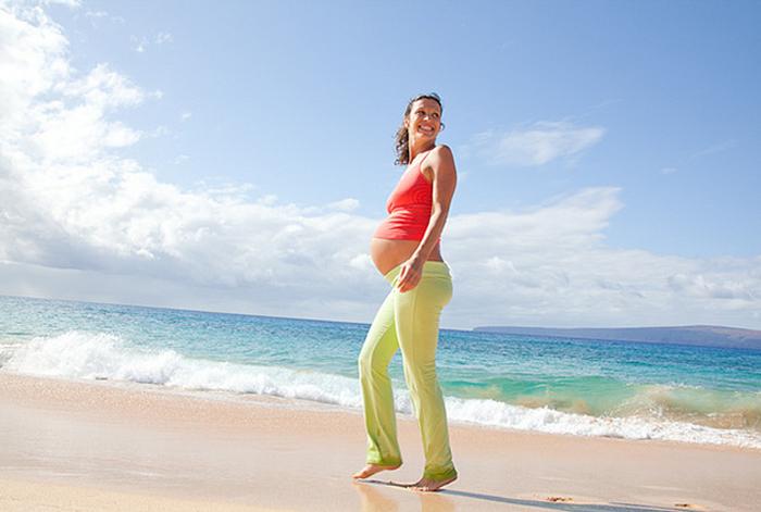 пешие прогулки полезны беременным