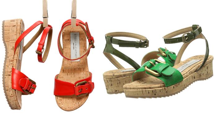пляжная обувь на пробковой подошве