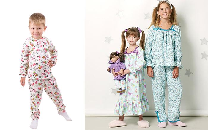пижамы и распашенки из хлопка и льна