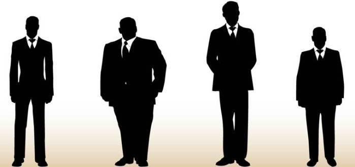 костюмы на мужчинах разного телосложения