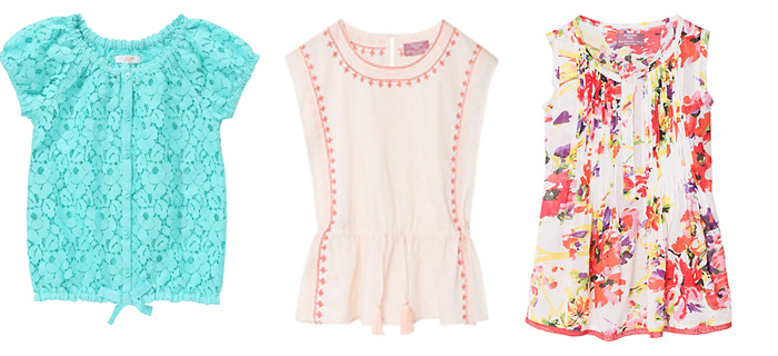 современные блузки для девочек