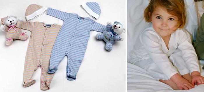 детская одежда для сна из трикотажа и бамбука