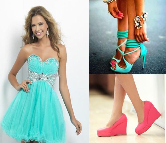 босоножки и туфли для расклешенного платья на выпускной