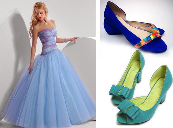 варианты туфель под длинное платье для выпускного бала