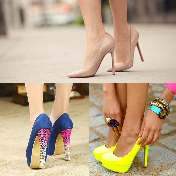 туфли в стиле нюд и варианты ярких решений