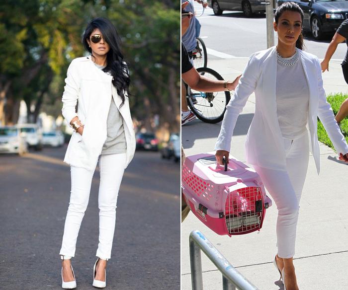 белые брюки и белый пиджак