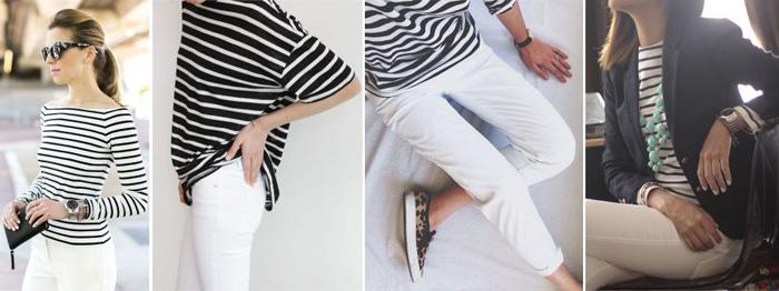 белые брюки и морской стиль