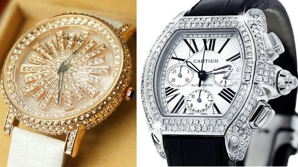 россыпи бриллиантов и тонкий французский стиль швейцарских наручных часов cartier