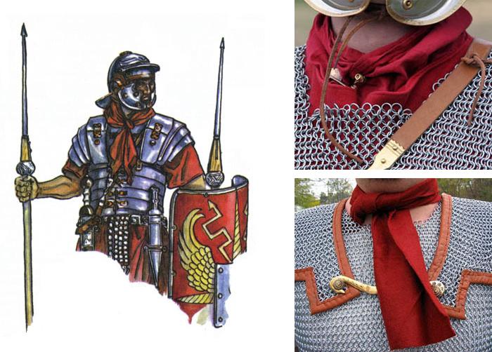 галстуки римских легионеров