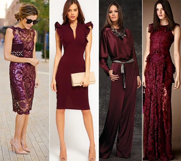новое платье марсала