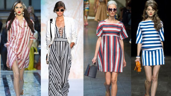 одежда в морском стиле в полоску разных направлений