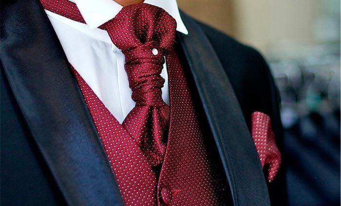 "мужской галстук ""пластрон"""