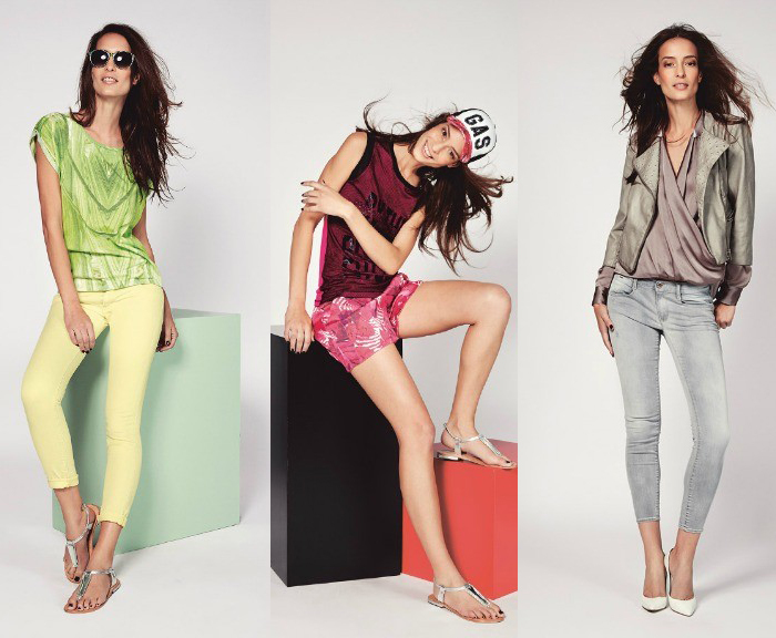 женская одежда из последней коллекции бренда GAS