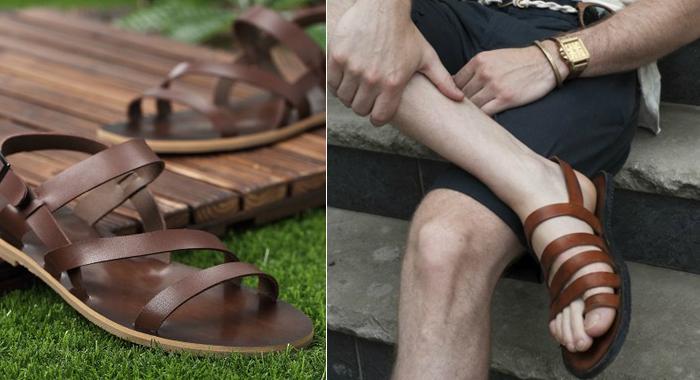 сандалии-открытая мужская обувь