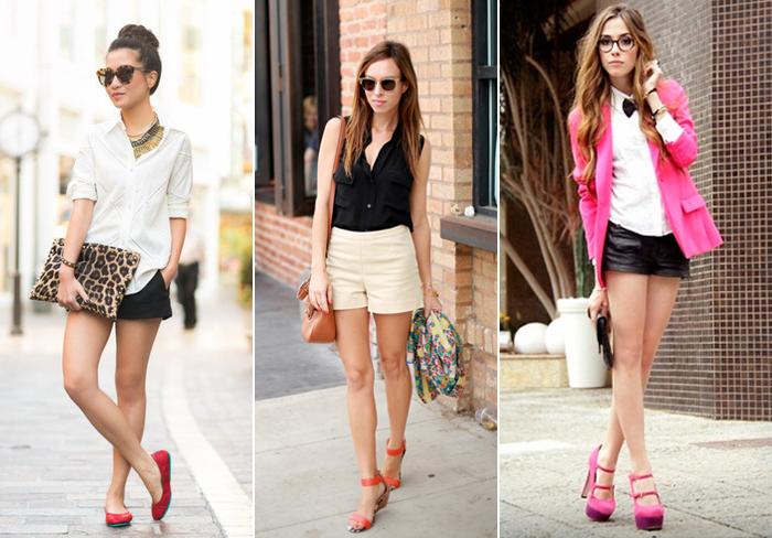 женские шорты классического кроя