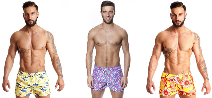 модель мужских плавок шорты-трусы