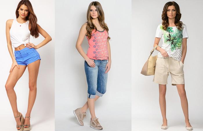 выбор модели шорт в зависимости от фигуры