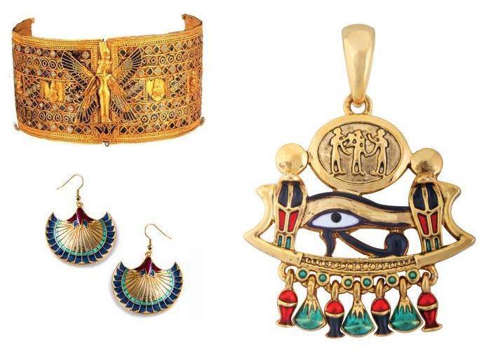 золотые египетские украшения
