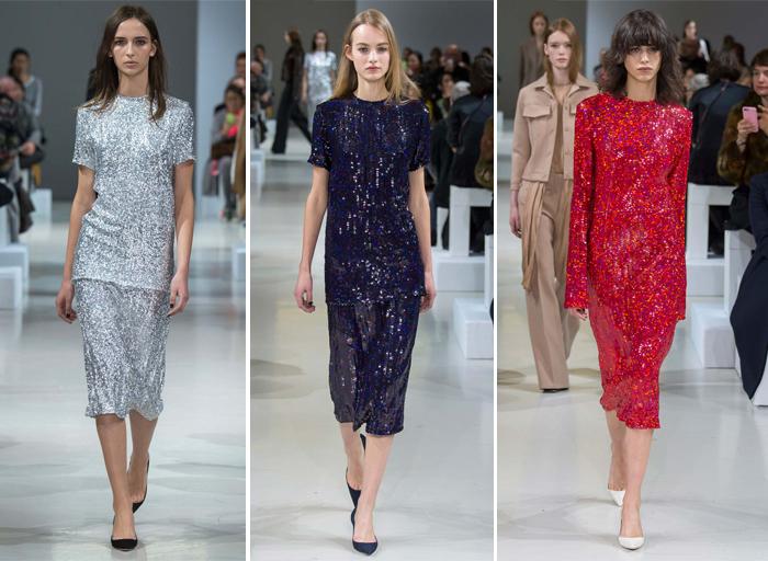 блестящая тема в коллекции одежды от Nina Ricci
