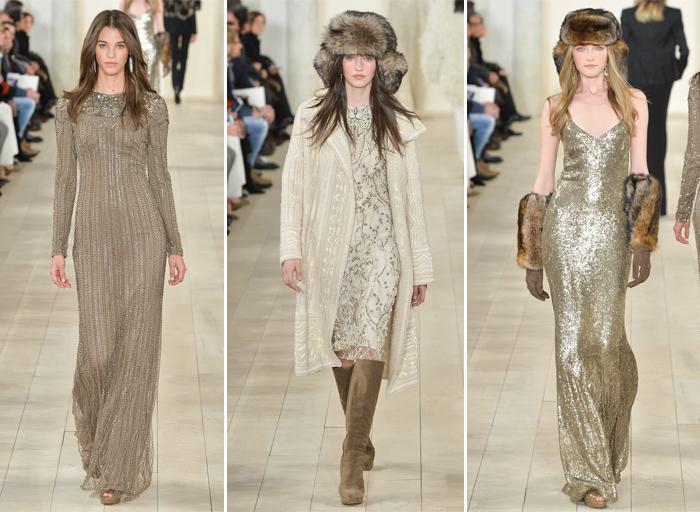 блестящие платья сезона осень-зима от Ralph Lauren