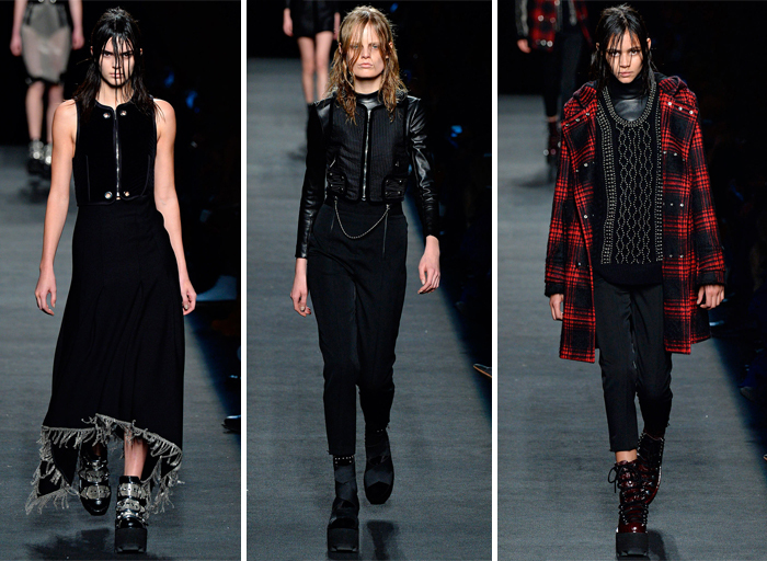 черная одежда Alexander Wang