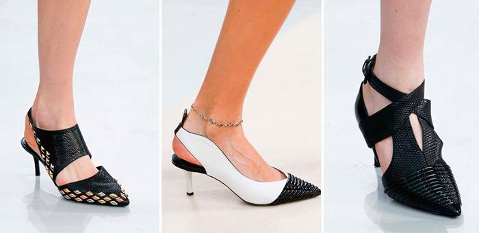 черно-белые женские туфли Louis Vuitton