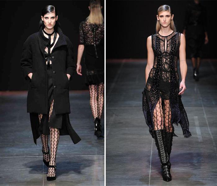 черные юбки из коллекций Tommy Hilfiger и Angelo Marani