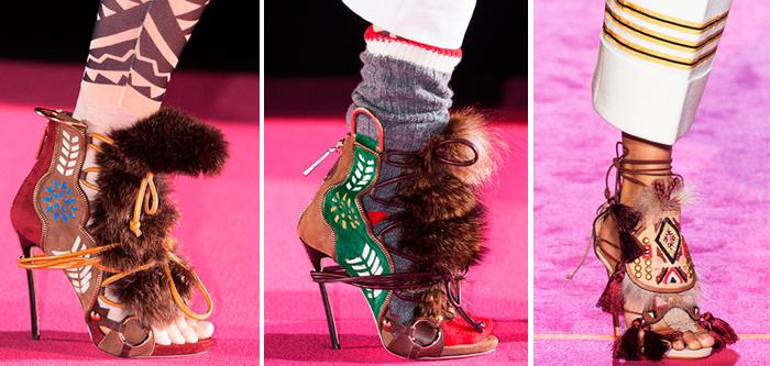 этно-стиль в женской обуви 2015-2016