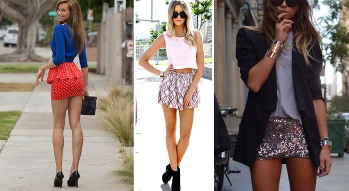 короткие юбки на высоких девушках