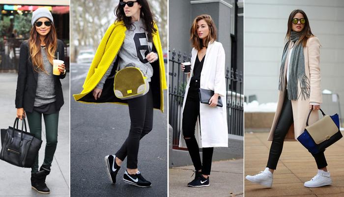 кроссовки со стилем casual