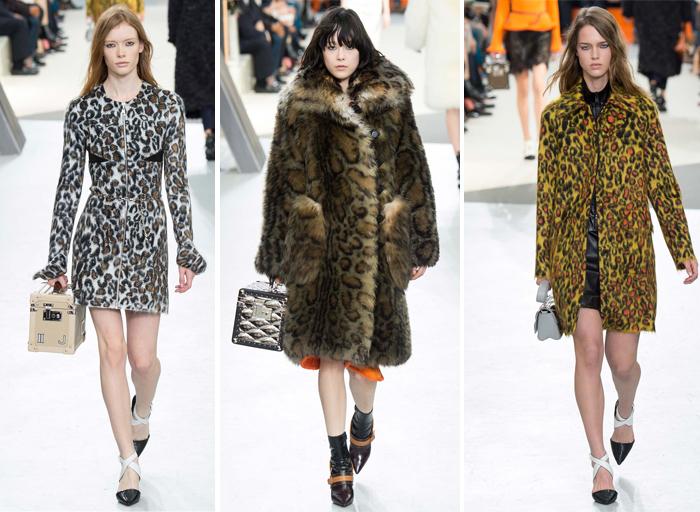 леопардовый принт в осенне-зимней коллекции одежды Louis Vuitton 2015-2016