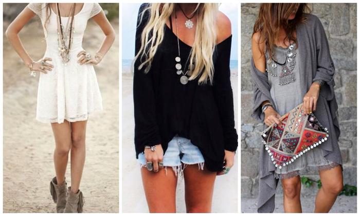 многослойность одежды бохо стиля