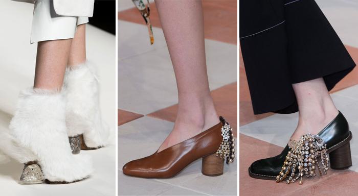 основные модные цвета женской обуви: коричневы, чёрный, серый и белый