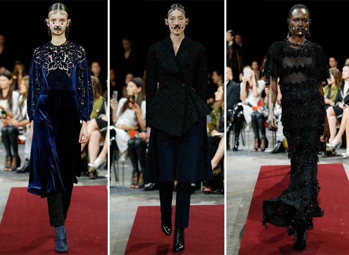 Givenchy-мрачная черная одежда из коллекции осень-зима 2015-2016