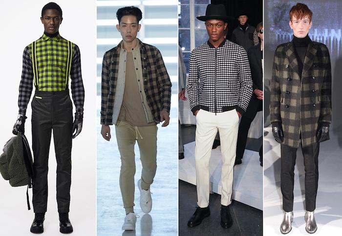 тренд осени-мужская одежда в клетку